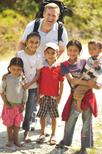 Ashley with Nepali Kids - social justice